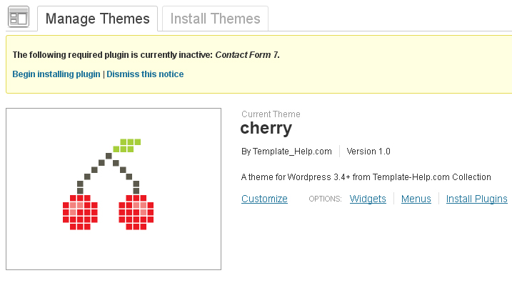 Cherry wordpress template documentation v2 3 how to install plugin pronofoot35fo Image collections