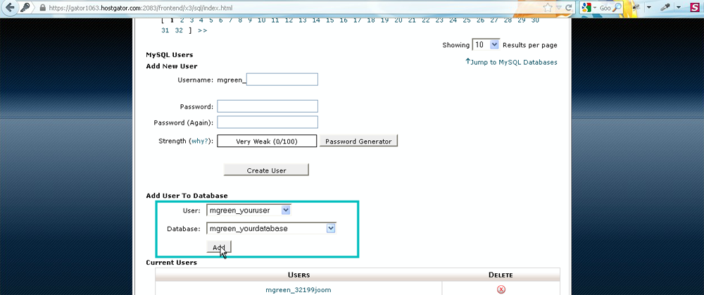 how to create a database in open office