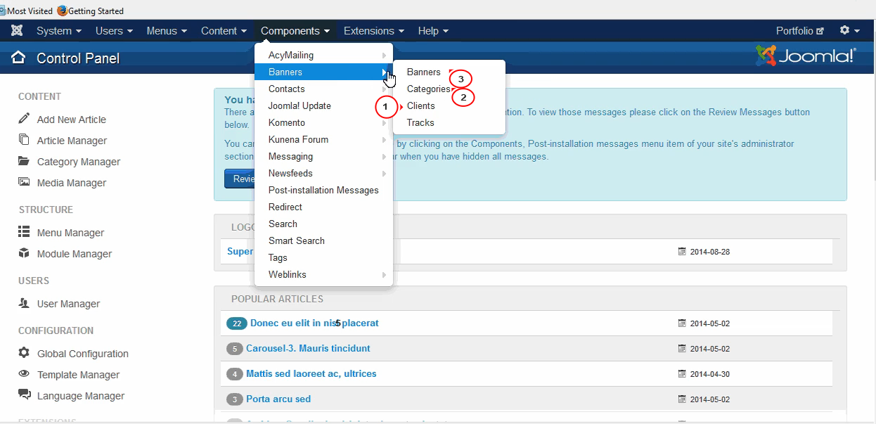 Как добавить баннер на сайт с Joomla 3.x - Центр Поддержки ... 3deb963dad5