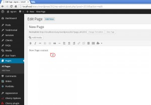 Wordpress.How to add new page.How to create nested(mulit-level)pages-2