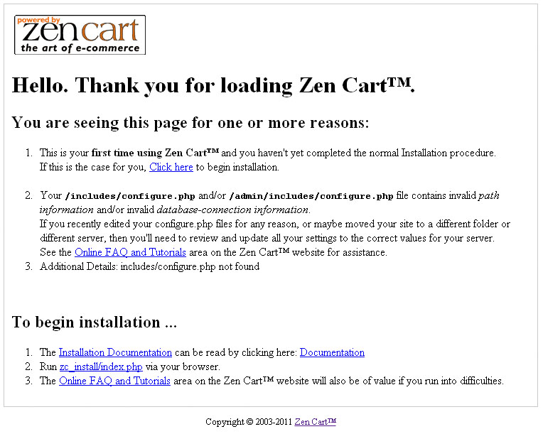 zencart how to install zencart engine and template template