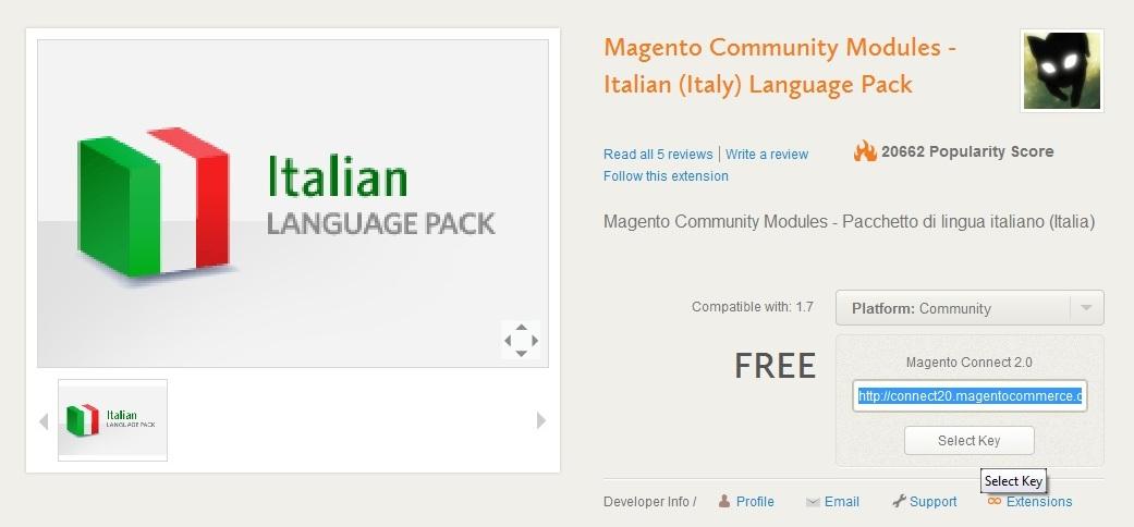 magento italiano