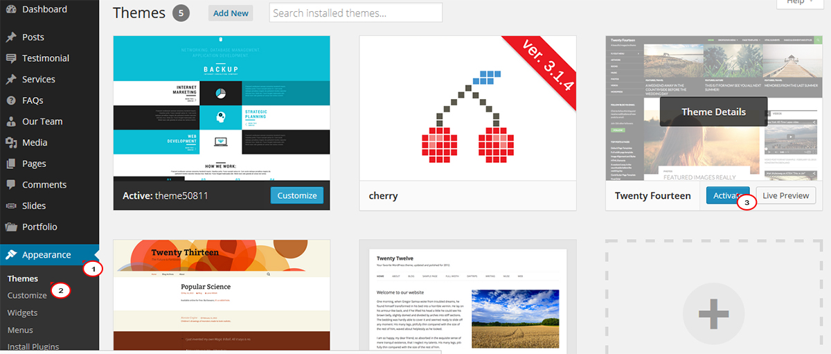 WordPress. Cómo eliminar el Tema de WordPress - Centro de Ayuda de ...