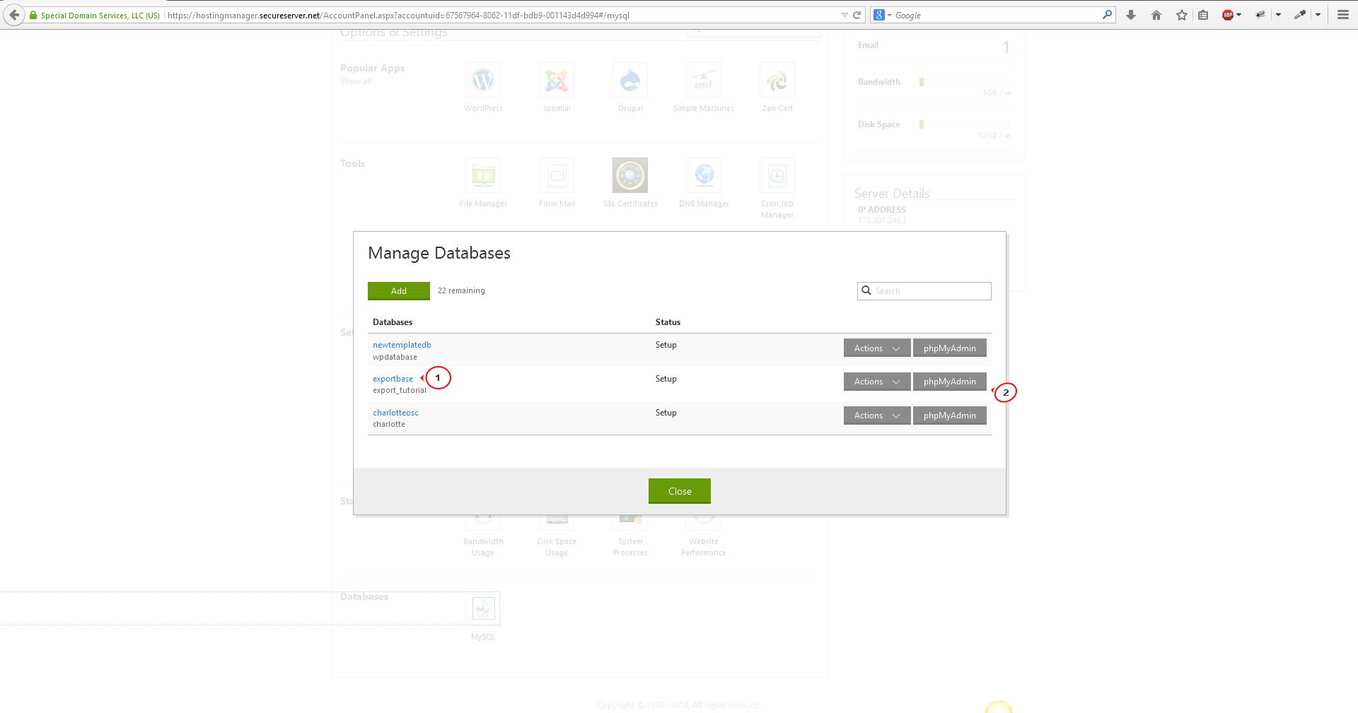 Как сделать mysql базу данных