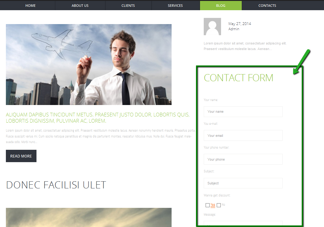 WordPress. How to create Contact Form (based on Contact Form