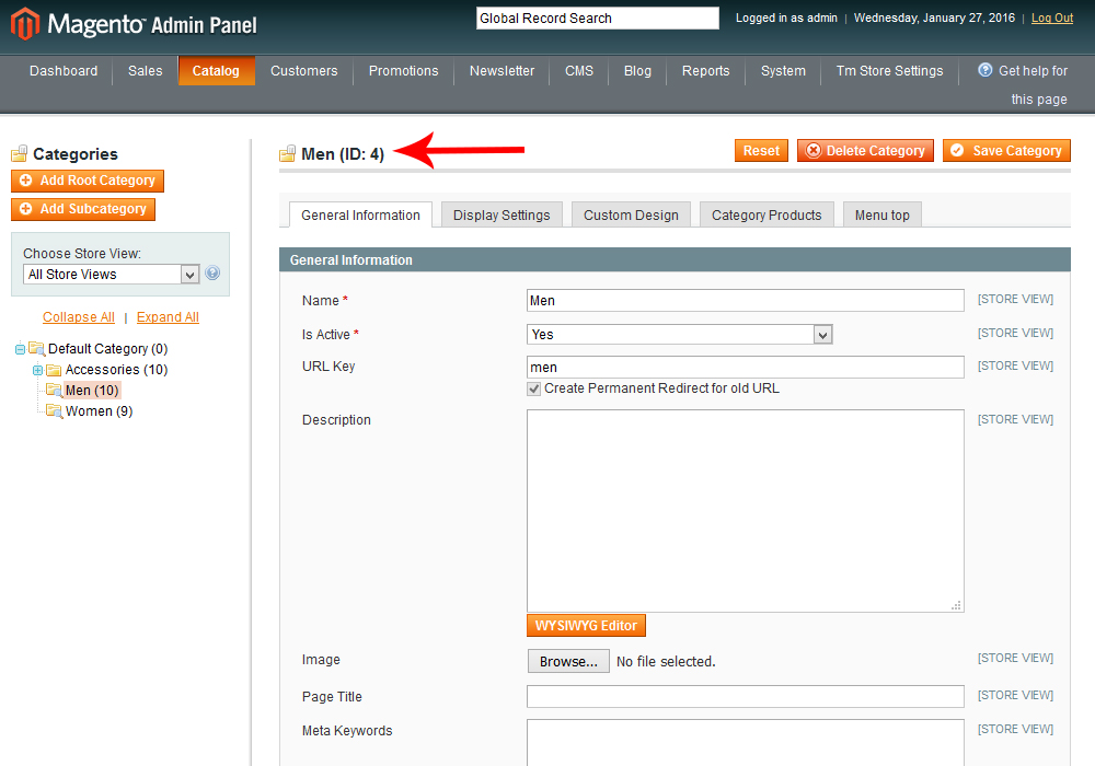 Magento How To Display Products Of Specific Category On