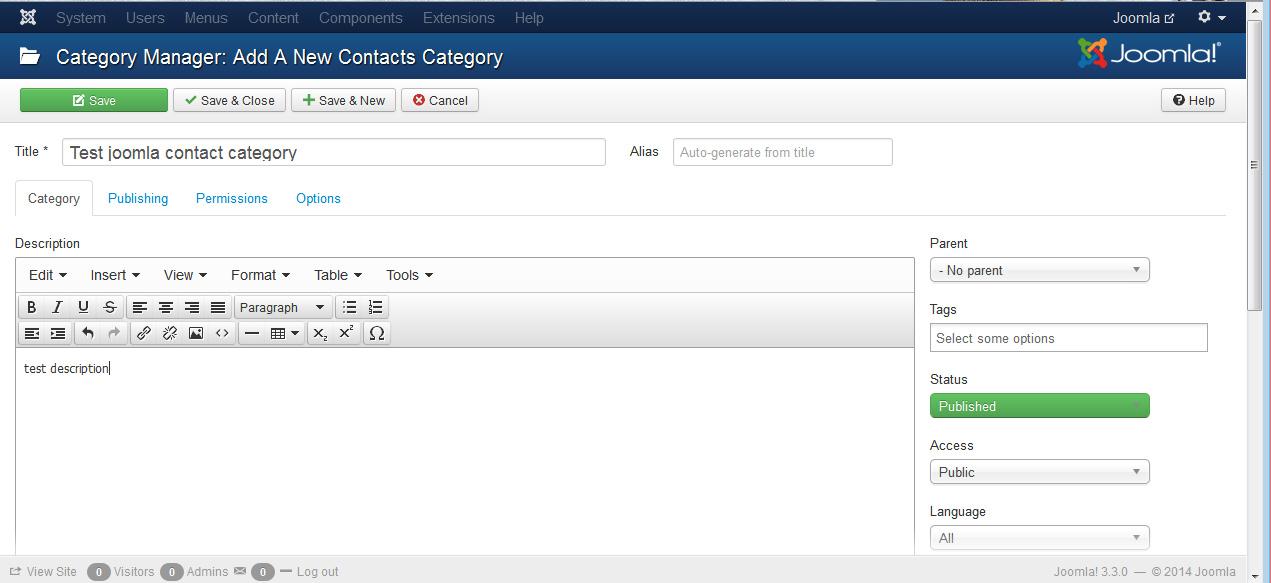 Joomla 3.x. Wie verwaltet man die Kontakte und Kontaktkategorien ...