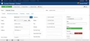 Joomla 3.x. How to manage Contacts categories and Contacts-2