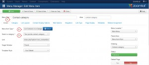 Joomla 3.x. How to manage Contacts categories and Contacts-4