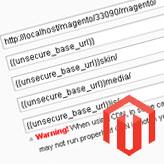 Magento. Wie ändert man die Basis-URL des Shops