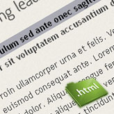 How to edit text in HTML based template