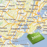 HTML. How to change Google Map location