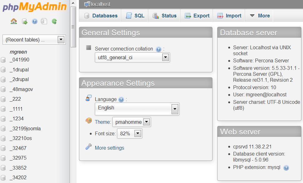 phpMyAdmin  How to import sample data dump file - Template Monster Help