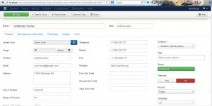 Joomla 3.x. How to manage contact details-3