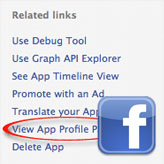 Facebook Templates. No 'View App Profile Page' link. Removing App Profile Pages