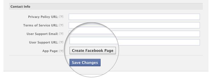 Facebook Templates  No 'View App Profile Page' link