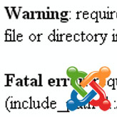 Joomla. Ошибка: «failed to open stream: No such file or directory…»