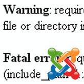 Solución de problemas de Joomla. Error: failed to open stream: No such file or directory…