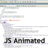JS Animated. How to edit single HTML file template