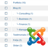 Joomla. How to create nested categories in K2