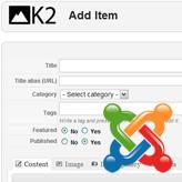 Joomla 2.5.x. How to add K2 item