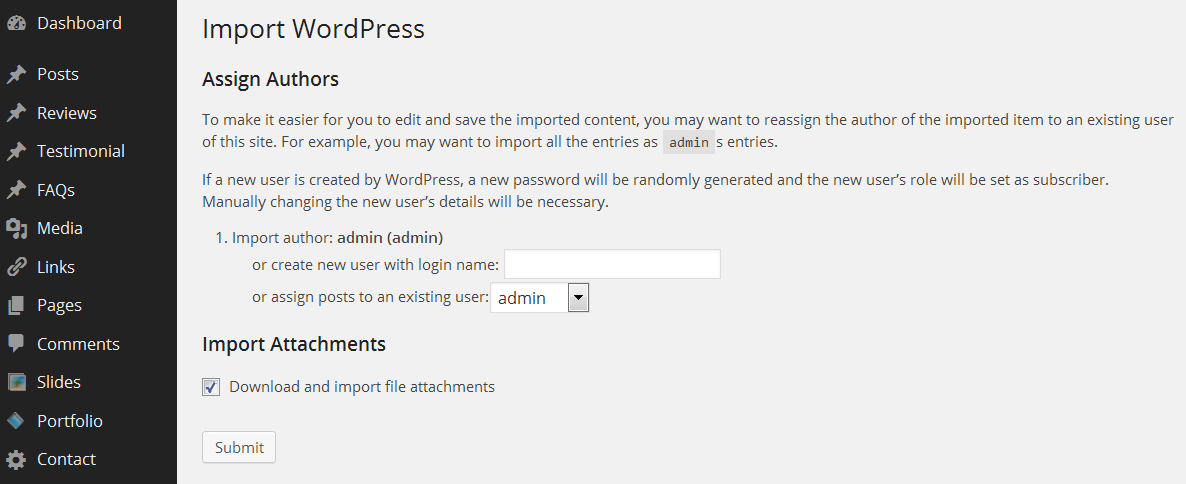 WordPress. How to install template over existing website - Template ...