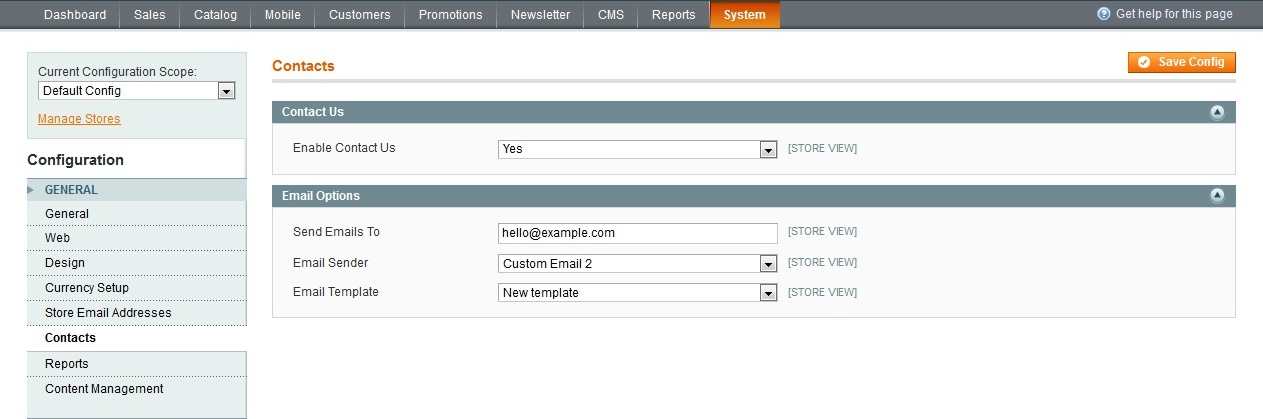 Magento. How to edit Contact us page - Template Monster Help