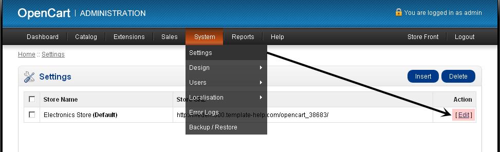 opencart template editor - opencart 1 5 x contact us