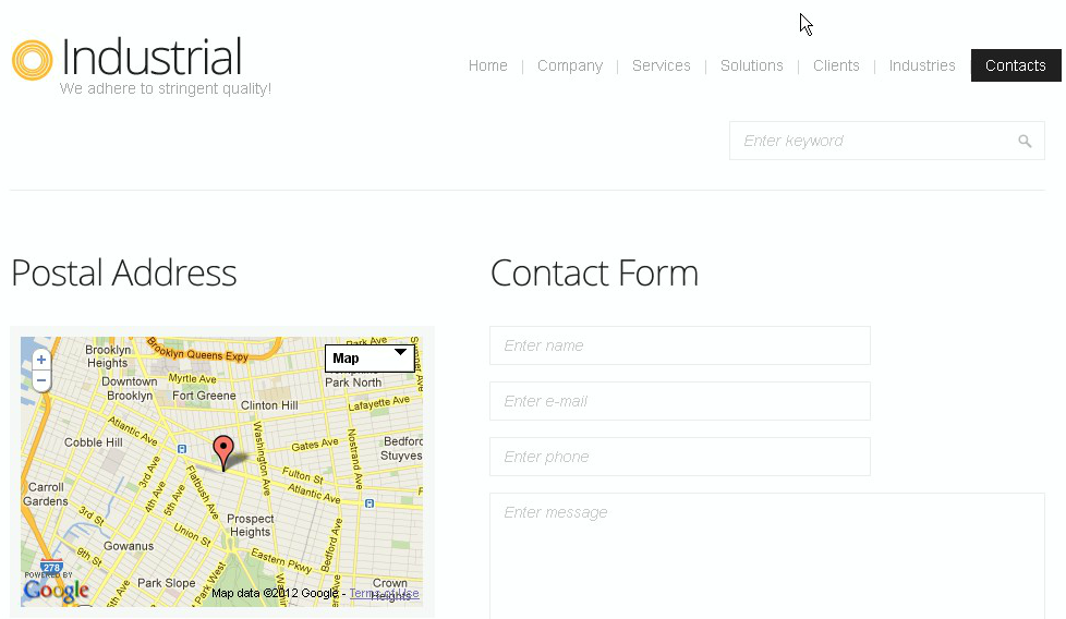 How to change Google map location in HTML-based template using ...