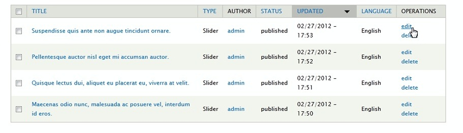 Drupal 7  How to work with JS slider - Template Monster Help