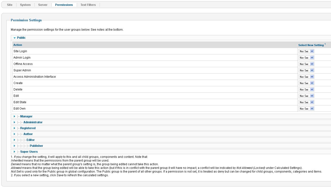 Joomla. ¿Cómo gestionar los permisos de usuario? - Centro de Ayuda ...