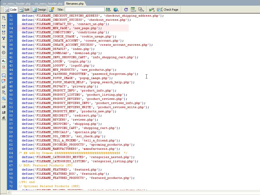 php filename