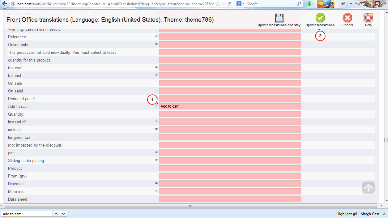how to add translate button on website