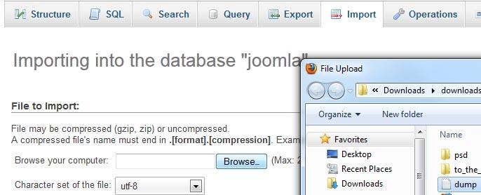 Joomla 2.5.x. How to install Joomla engine and template on local ...