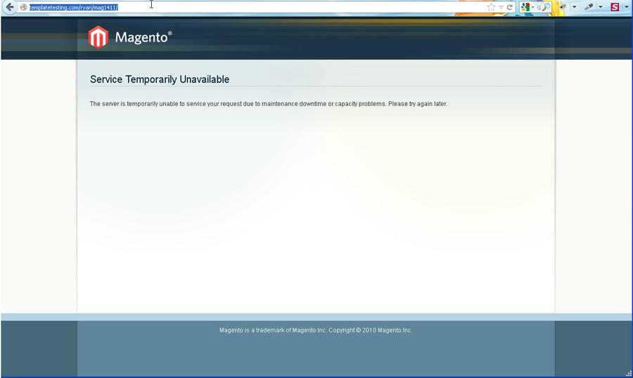 maintenance mode html template - magento c mo poner su sitio en modo de mantenimiento