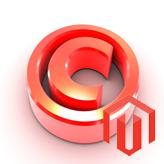 Magento. Как изменить сообщение об авторских правах в футере