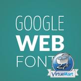 VirtueMart. How to change a Google web font