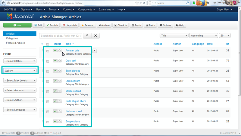 wordpress template how to create sub categories in menu