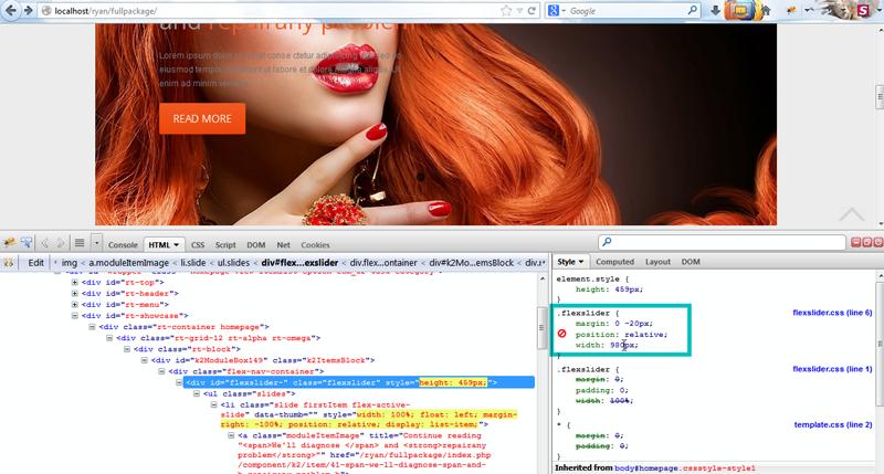 Joomla. Как изменить размеры слайдера Template-help.com