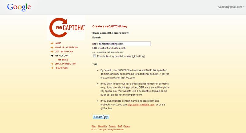 Joomla 3 x  How to configure captcha (recaptcha plugin