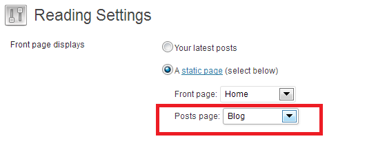 wordpress how to add create blog page if there is no such page in