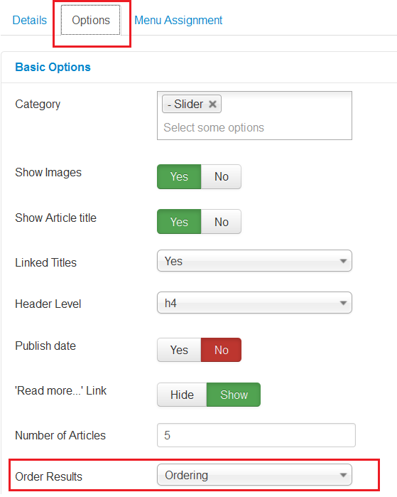 Joomla 3 x  How to change the order of slider images using drag-and
