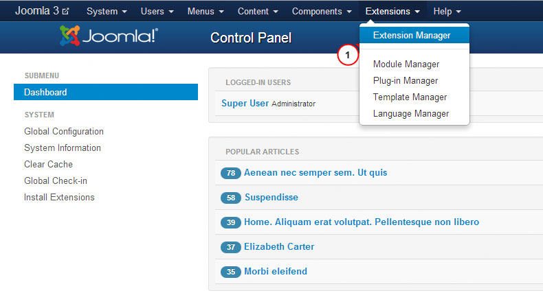 Joomla 3x How To Install A Template Template Monster Help