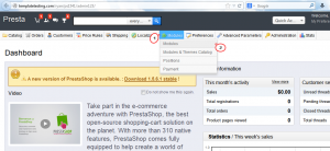 PrestaShop 1.5.x How to update the engine using 1-click Upgrade module-1