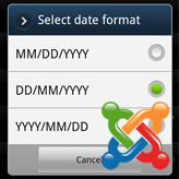 Joomla 3.x. How to change date format