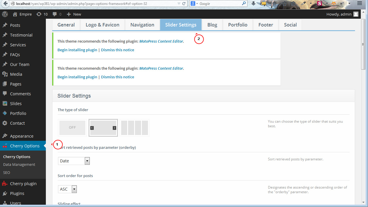wordpress form post to a different page