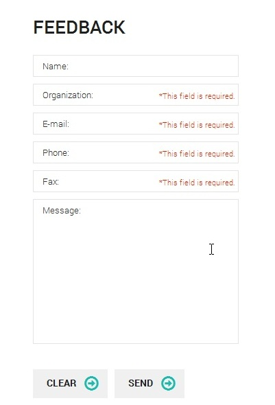 Js Animated How To Make A Contact Form Field Not Required