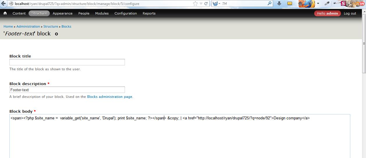 Drupal 7.x. Wie bearbeitet man Copyright im Footer - Hilfe von ...