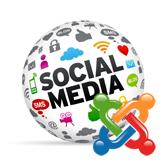 Joomla 3.x. Wie verwaltet man das Menü von sozialen Netzwerken