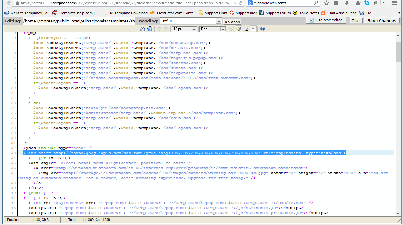 Joomla 3.x. Wie ändert man die Google web Schrift - Hilfe von ...